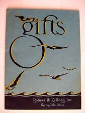 Attractive Vintage Kellogg Gift Catalog w/ Seagulls Gliding Over a Blue Ocean *
