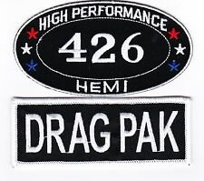 426 HEMI DODGE DRAG PAK SEW/IRON ON PATCH EMBROIDERED MOPAR CAR