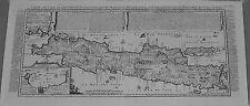 Antique map, Carte de l'ile de Java