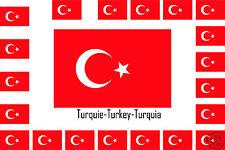 Assortiment de 25 autocollants Vinyle stickers drapeau Turquie-Turkey-Turquia