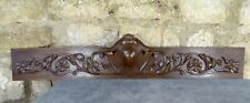 "38"" Antique French Hand Carved Pediment Wood Solid Oak Wood Gothique"