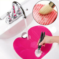 1PCS Silicone Makeup Brush Cleaner Pad Washing Scrubber Board Cleaning Mat Tools