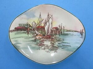 """Vintage Royal Doulton Series Ware """" Home Waters """" pin / butter dish D6434"""