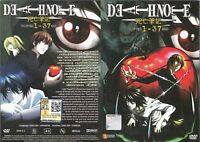 ANIME DVD ENGLISH DUBBED Death Note(1-37End)All region FREE SHIPPING+GIFT