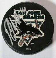 Patrick Marleau San Jose Sharks Signed Autographed Puck NHL Hockey VIntage 90s