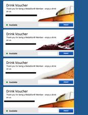 4 Delta Airlines Drink Vouchers Coupon expires 1/31/2022 - Beer Wine Spirit Four