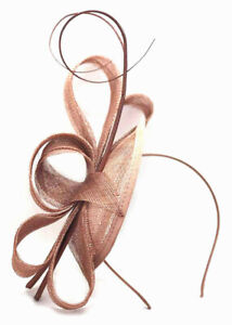 Large Nude Aliceband Hat Fascinator Hatinator Ladies Day Races Royal Ascot