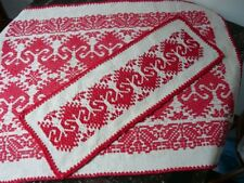 HUNGARIAN KALOTASZEGI STYLE TABLE COVERS,  HAND EMBROIDERED! VINTAGE!