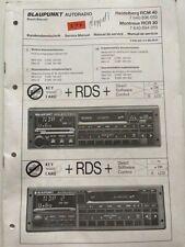 RCM 40 Heidelberg / RCR30 Montreux original Blaupunkt Autoradio Service Manual