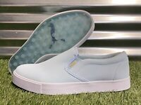 PUMA Tustin I Slip-On Golf Shoes Omphalodes Blue Gold Womens SZ ( 193827 01 )