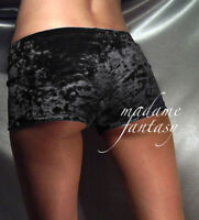 MADAME FANTASY METALLIC SILVER SHINY SHORTS MICRO HOT PANTS S M L XL XXL XXXL