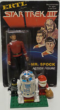 STAR TREK III : SPOCK & PHASER ACTION FIGURE MADE BY ERTL IN 1984