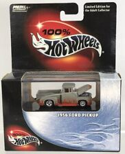 Hot Wheels 100% 1956 Ford Pickup Custom Flames 1:64 Metal Collection 2003 #08