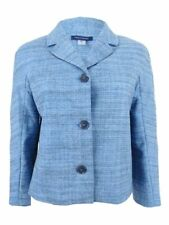 Tommy Hilfiger Womens Three-Button Jacket 8, Blue