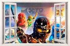 Lego Ninjago 3D Wandaufkleber Wandtattoo Kinder Decoration wall stickers 58x99cm