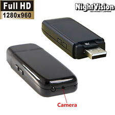 Mini 1280*960 HD SPY DVR Hidden U disk Camera Night Vision DV Video Recorder Cam