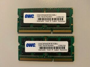 2x 2GB SO-DIMM 1066 MHz PC3-8500 DDR3 OWC Memory Pulled from Mac Mini 2010
