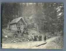 Chasseurs Alpins, étape dans les Vosges  Vintage silver print Tirage arg