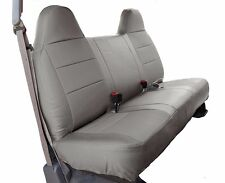 FORD F-150 GREY IGGEE S.LEATHER CUSTOM FIT BENCH FRONT SEAT COVER