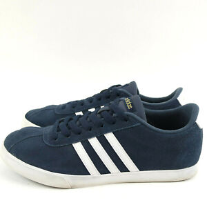 Adidas Courtset Sneakers Navy Blue White Stripes Womens Shoes Size 9.5  Lace Up