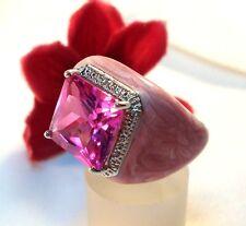 Pompöser Zirconia Ring 925 Silber Handschmeichler / be 273