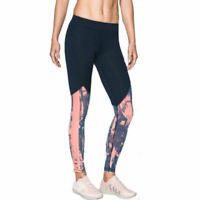 Under Armour UA ColdGear Womens Graphic Printed Sports Gym Running Leggings