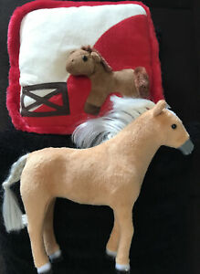 3D Horse Pillow And Jointed Plush Horse Figurine