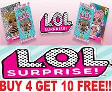 PANINI LOL SURPRISE ☆  SINGLE TRADING CARDS ☆  BUY 4 GET 10 FREE ☆  L.O.L (2019)