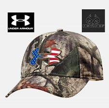 Under Armour Big Logo Americana Camo hunting/fishing baseball Cap adjustable NWT
