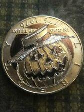 Kennedy half dollar Hobo nickel hand carved by J&M Tarantula Happy Halloween