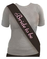 Hen Party Night Sashes - 4 Colours Available Bride to Be Black