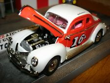 1940 FORD COUPE Stock Car 1:43 Buck Baker, Highly Detailed, New in Box