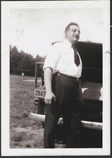 VINTAGE 1936 LICENSE PLATE QUEBEC CANADA OLD CAR CHEVY BOW-TIE BLINKER PHOTO