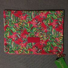 NWT Lilly Pulitzer Pick Me Up Pouch Large in Pomegranate Jungle Tumble