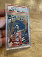 Michael Jordan GOLD SIGNATURE PSA 7 Upper Deck #402 Chicago Bulls INVEST 1994 NR
