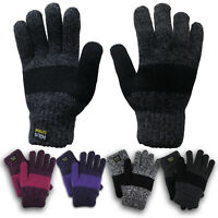 NEW Women's Insulated Gloves Knit Winter Gloves Thermal Insulation Warm