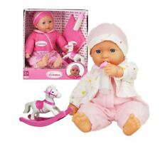 New,Born,Soft Bodied, Baby,Doll,Toy with Outfit,Milk Bottle, Rocking Horse, Toy