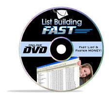 List Building Fast Video Tutorials on 1 CD