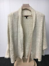 Jessica Simpson Cardigan Sweater Ivory and Gold Women's Small G13-12