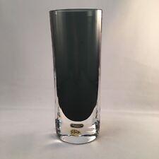 vintage Smalandshyttan Josef Schott sommerso vase  Mid century Swedish glass