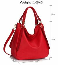 Women's Large Size Shoulder Bags Soft Faux Leather Grab Bag Handbags For Her