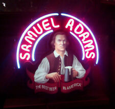 "New SAMUEL ADAMS BEER The Best Beer In America Neon Light Sign 19""x15"""