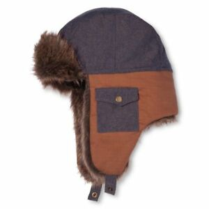 DICKIES BLUE / BROWN TROUT CREEK TRAPPER HAT WITH EAR FLAP