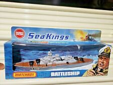 Rare Lesney Matchbox 1975 Sea Kings K-303 Battleship with #110 Labels New Boxed