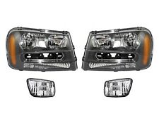Left & Right Genuine Headlights Headlamps & Fog Lights Lamps Kit for Chevy GM