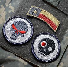 MARSOC FORCE RECON RANGERS SNIPER 3-TAB: TX FLAG + PUNISHER + TERMINATOR SKULL
