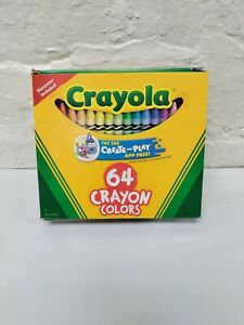 Crayola Crayons 64-CT Assorted Colors Sharpener Included Non-Toxic FREE USA SHIP