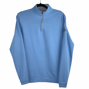 Peter Millar Crown Sport The Foundry Golf Club 1/4 Zip Light Blue Pullover Small