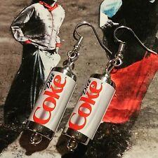 Unique Diet Coke Orecchini realizzato a mano Designer Bere Bevande gassate Retrò Coca Cola può