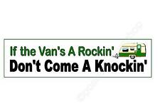 funny car bumper sticker if the van's a rockin' don't come knockin' 220 mm decal